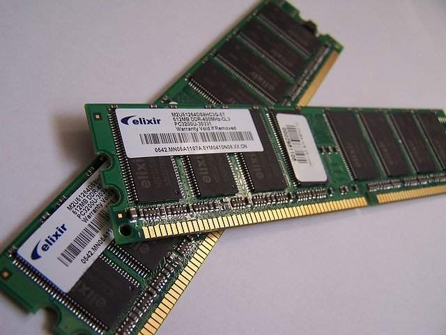 A Random Access Memory(RAM) or memory - part of the 6 computer parts